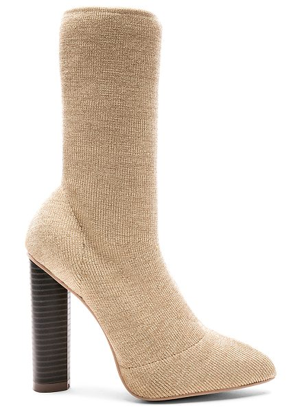 "by the way. Piper Bootie in beige - ""Metallic stretch textile upper with man made sole. Pull..."