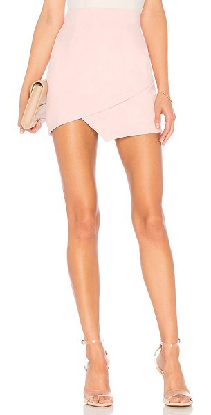 by the way. saira faux suede mini skirt in blush