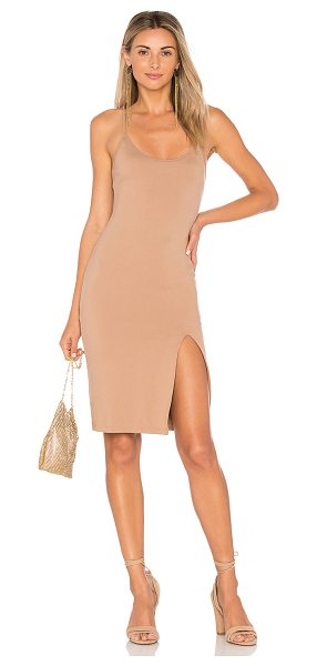 by the way. sina bodycon midi dress in nude