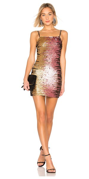 by the way. Steena Sequin Dress in metallic gold - Self & Lining: 100% poly. Hand wash cold. Fully lined....