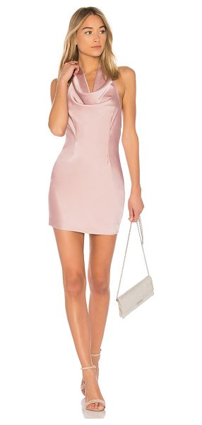 by the way. Stella Drape Satin Mini Dress in blush - Self & Contrast: 100% poly. Hand wash cold. Draped...