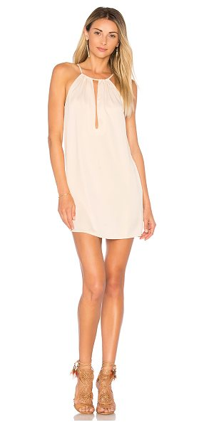 by the way. Toni Keyhole Shift Dress in pink - 100% poly. Hand wash cold. Unlined. Adjustable shoulder...