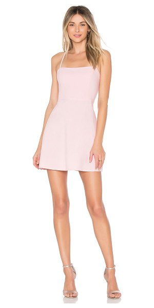 by the way. Vienna A-Line Mini Dress in blush - Rayon blend. Hand wash cold. Partially lined. Adjustable...