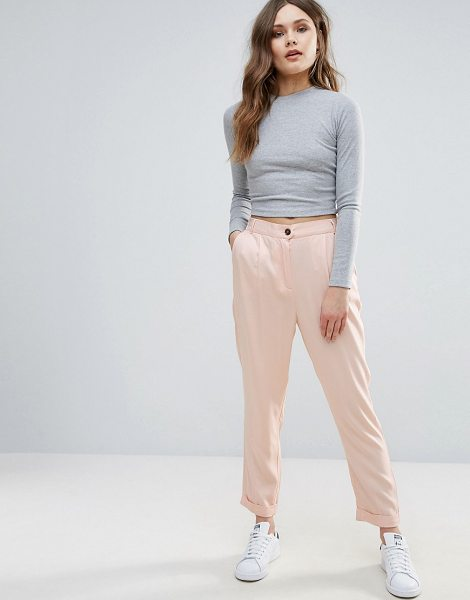"B.young B.Young Tailored Pant in pink - """"Pants by b.Young, Lightweight woven fabric, High-rise..."