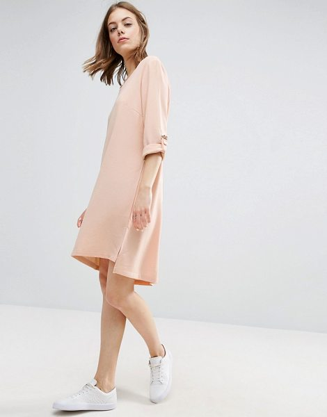 """B.young Crepe Dress in pink - """"""""Dress by b.Young, Textured crepe, V-neck,..."""