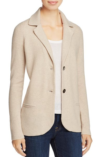 C By Bloomingdale's C by Bloomingdale's Cashmere Blazer - 100% Exclusive in heather oatmeal - C by Bloomingdale's Cashmere Blazer - 100% Exclusive-Women