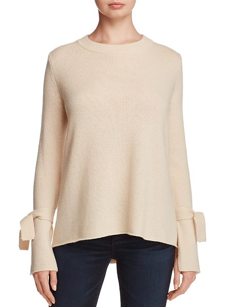 C By Bloomingdale's C by Bloomingdale's Cashmere Boat Neck Tie-Sleeve Sweater - 100% Exclusive in cream - C by Bloomingdale's Cashmere Boat Neck Tie-Sleeve...