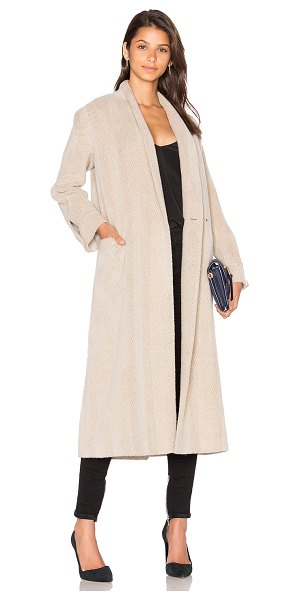 CACHAREL Car Coat - Wool blend. Dry clean only. Button front closures. Front...