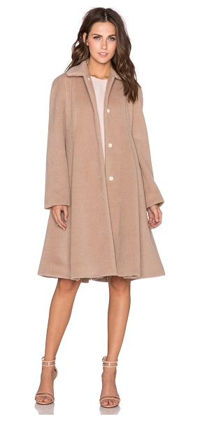 Cacharel Flared raglan coat in taupe - 56% virgin wool 36% alpaca 8% polyamide. Dry clean only....