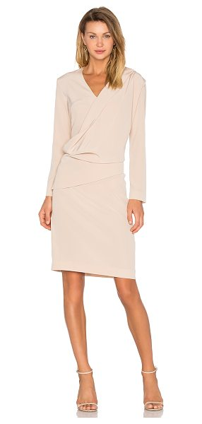 Cacharel Silk Pleat Dress in beige - 81% triacetate 19% poly. Dry clean only. Unlined. Draped...