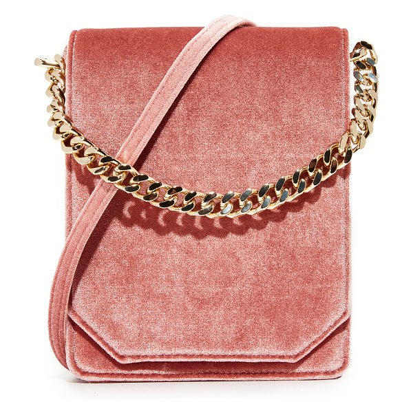 Cafune bellows cross body bag in dusty rose - A velvet Cafune cross-body bag in a structured...