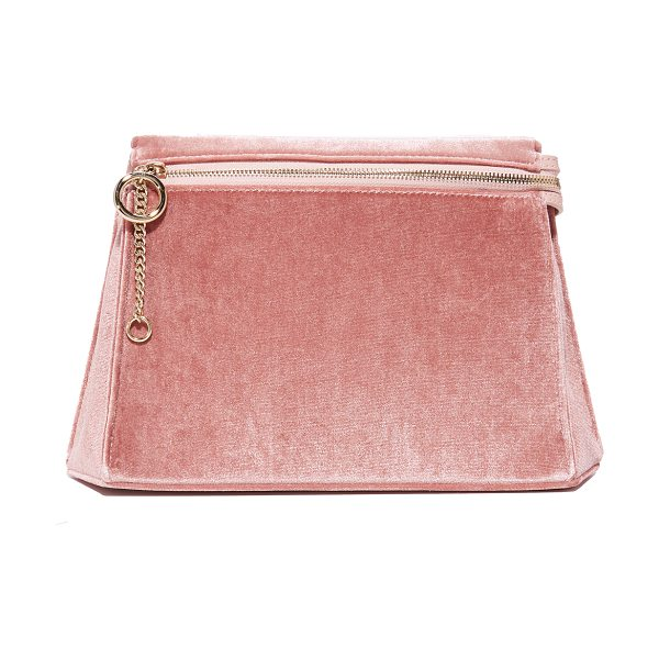 Cafune camber clutch in dusty rose - A geometric shape adds sculptural style to this pastel...
