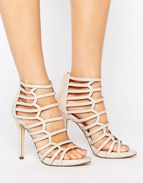 Call It Spring astausien cut out heeled sandals in bone