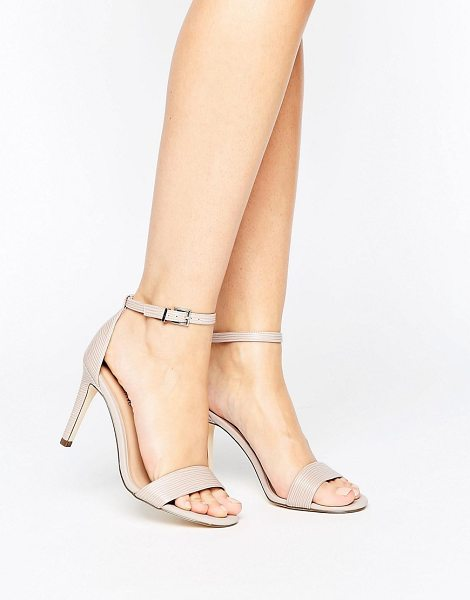 """Call It Spring ahlberg blush two part heeled sandals in pink - """"""""Sandals by Call It Spring, Patterned faux-leather..."""