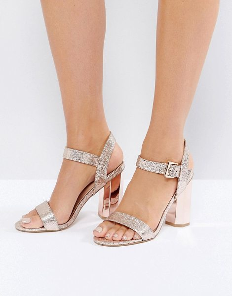 "Call It Spring Call It Spring Burgersdorp Pink Glitter Two Part Heeled Sandals in lightpink55 - """"Sandals by Call It Spring, Textile upper, Glitter..."