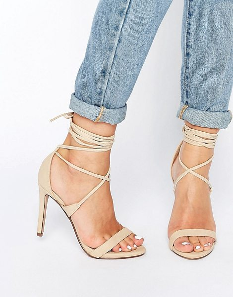 CALL IT SPRING Call It Spring Eowossa Heeled Naked Lace Up Sandal - Sandals by Call It Spring, Faux-leather upper, Lace-up...