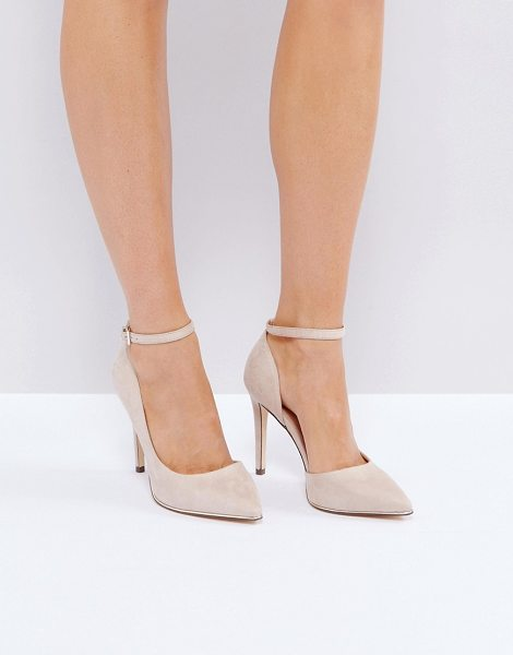 "Call It Spring Call It Spring Exerina Pointed Pumps in beige - """"Heels by Call It Spring, Textile upper, Ankle-strap..."