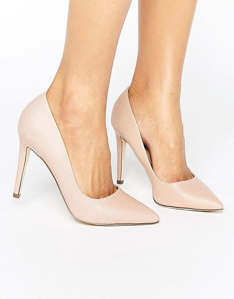"""Call It Spring gwydda blush heeled shoes in pink - """"""""Heels by Call It Spring, Faux-leather upper, Textured..."""