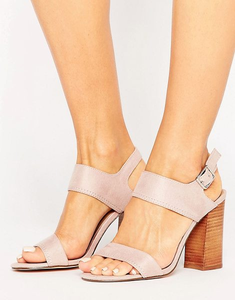 "Call It Spring Call It Spring Peawia Blush Block Heeled Sandals in pink - """"Sandals by Call It Spring, Faux-suede upper, Slingback..."