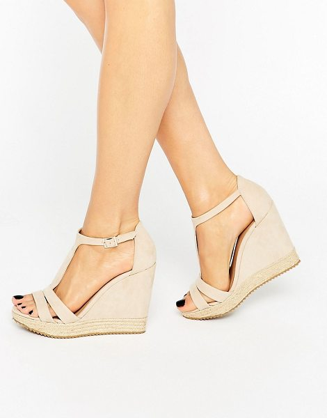 CALL IT SPRING Call It Spring Gralia T-Bar Wedge With Rope Detail - Wedges by Call It Spring, Faux-suede upper, Open toe,...