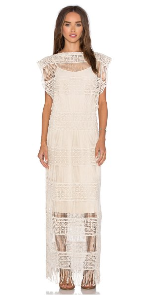 Callahan Crochet maxi dress in cream - 100% cotton. Hand wash cold. Fully lined. Crochet knit...