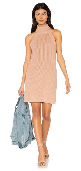 Callahan Fisher Mini Tank Dress in blush - 100% cotton. Hand wash cold. Knit fabric. CAHN-WD17....