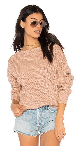 Callahan fisher off the shoulder sweater in blush
