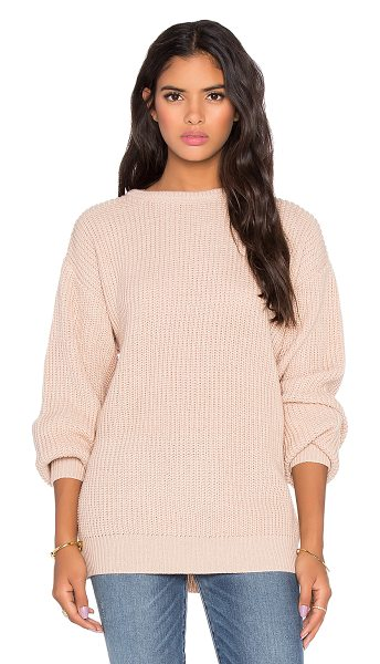 Callahan Oversized boyfriend sweater in beige - 100% acrylic. Hand wash cold. CAHN-WK7. 9155.