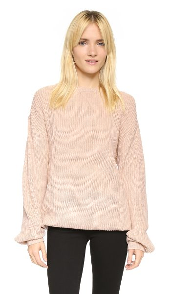 Callahan Oversized boyfriend sweater in shell - A Callahan sweater in a relaxed fit. Crew neckline....