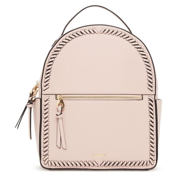 CALPAK kaya faux leather round backpack in pink
