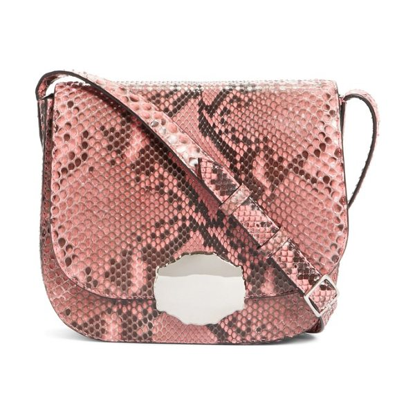 CALVIN KLEIN 205W39NYC calvin klein 205w395nyc genuine python shoulder bag in blush - Silvery hardware and a blush pink hue add ladylike...