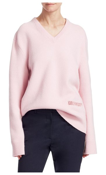 CALVIN KLEIN 205W39NYC long-sleeve sweater in cherry blossom - From the Saks IT LIST. PUTTING ON THE KNITS. That...