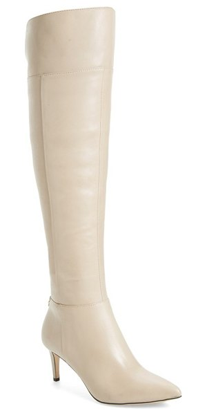 Calvin Klein coletta over the knee boot in clay leather - A pointed toe adds to the leg-lengthening effect of a...