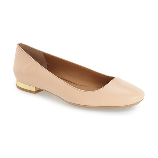 Calvin Klein 'felice' flat in blush nude - A chic, streamlined flat is styled with a slightly...