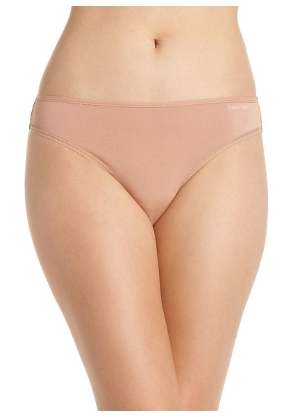 Calvin Klein form bikini in warm camel - Soft, subtle and the perfect foundation for everyday...
