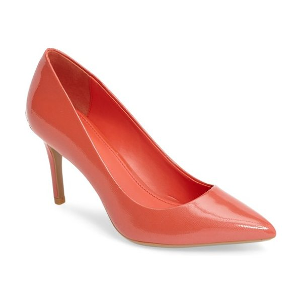 Calvin Klein 'gayle' pointy toe pump in deep blush patent - The essential pointy-toe pump is primed to go from...