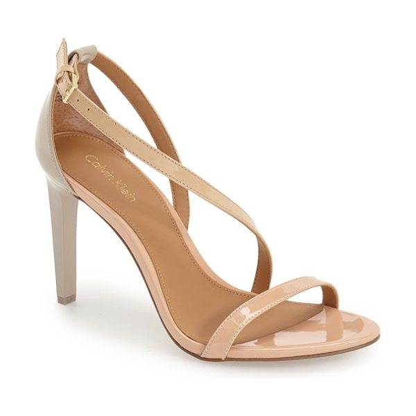 Calvin Klein narella sandal in blush nude/ sandstorm - Minimalist asymmetrical straps and a sultry topline...