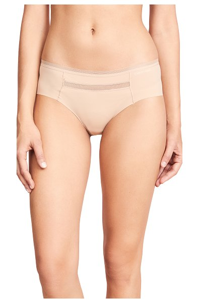Calvin Klein Underwear invisibles with mesh hipster briefs in bare - Mesh trim and front panel Jersey gusset Hipster briefs...