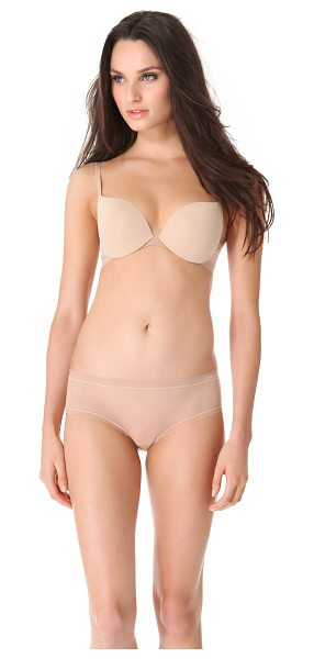 Calvin Klein Underwear launch convertible push up bra in bare - A smooth push-up bra features mesh wings trimmed in...