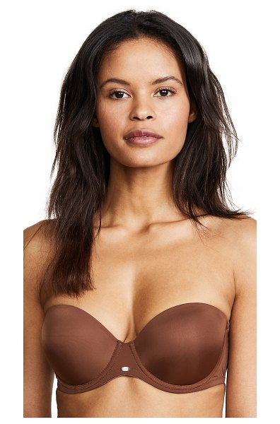 Calvin Klein Underwear naked glamour strapless push up bra in cinnamon