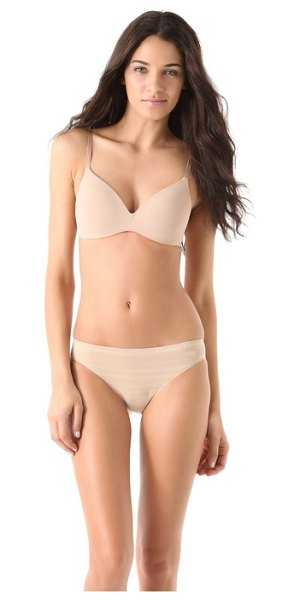 Calvin Klein Underwear perfectly fit wireless contour bra in sand dune - This wireless jersey bra features light padding at the...