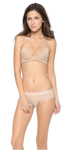 Calvin Klein Underwear seductive comfort customized lift bra in dune