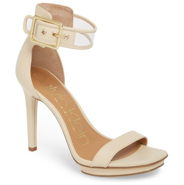Calvin Klein vable sandal in sand leather