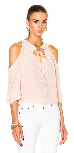 Calvin Rucker Amazed Top in blush - 100% Japanese poly. Made in USA. Dry clean only....