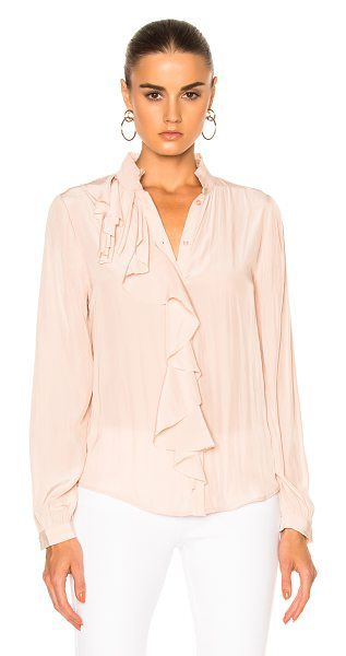 Calvin Rucker for FWRD Kryptonite Top in blush - 100% poly. Made in USA. Dry clean only. Button front...