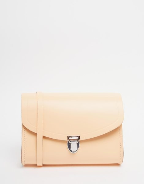 Cambridge Satchel The  leather push lock bag in peach in peony peach - Cart by Cambridge Satchel Company Leather outer Single...