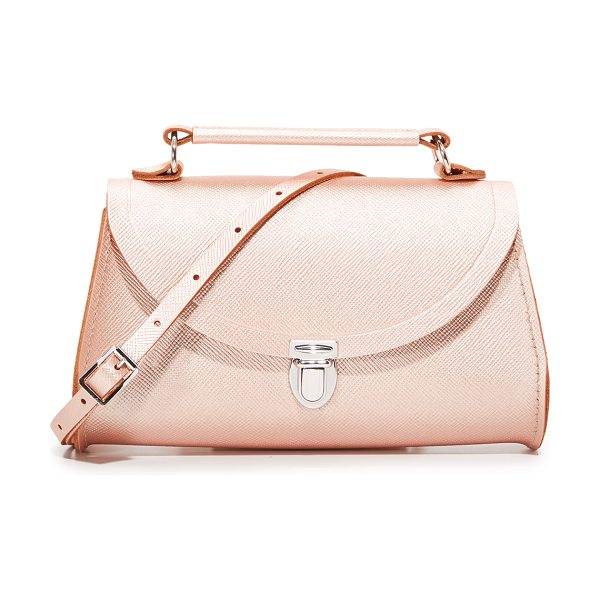 Cambridge Satchel mini poppy top handle bag in rose gold - A classic Cambridge Satchel cross-body bag in metallic...