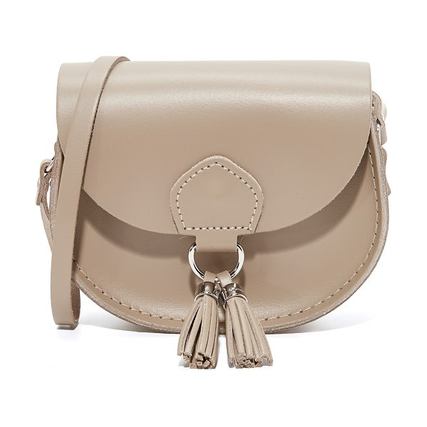 CAMBRIDGE SATCHEL mini tassel bag in putty - A petite Cambridge Satchel saddle bag in smooth leather....