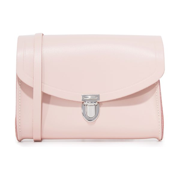 Cambridge Satchel Push lock bag in dusky rose - A small Cambridge Satchel bag composed in rigid leather....