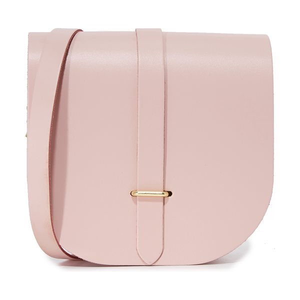 Cambridge Satchel Saddle bag in dusky rose - A handmade Cambridge Satchel saddle bag with a...